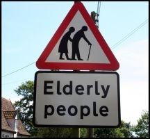 'Elderly People' Sign by LadyOfCode