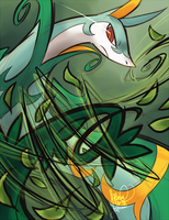 Serperior Used Leaf Tornado by ClefdeSoll