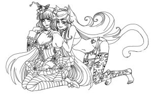 PSG Halloween free lineart by Roots-Love