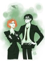 Ovide Mulder and Prudence Scully by JackPot-84