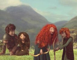 Hiccup and Merida's Family by NENEnewby