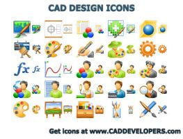 CAD Design Icons by Ikonod