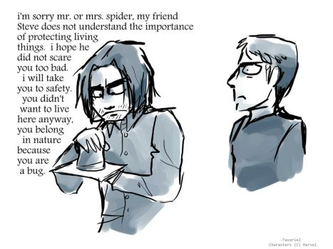 Bucky Saves a Bug by Tavoriel