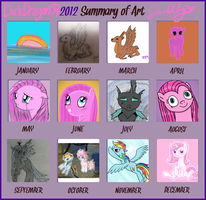 2012 Summary of Art by Violyre