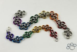 Japanese Style Rainbow Bracelets by Digi-dog