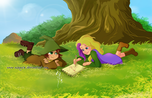 Snufkin and Snuffy...a summer together by Nippy13