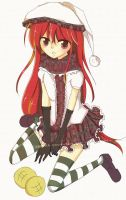 Secret Santa: Shana in Winter Outfit by ChibiPaper