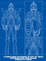 WERKUDRO EXOSKELETON OF BIMA Mark-1 Blueprint by IshaMuhammad