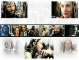 Arwen and Aragorn by SilverElf