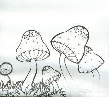 Unfinished shrooms.... by KalieMONSTER