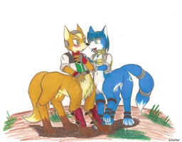 Fox and Krystal as Taurs by StarFox-Saiyan