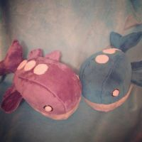 Two Wailord Plush by Glacdeas