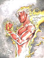 Human Torch Blitz Day 27 by ChrisMcJunkin