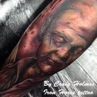 Walking dead zombie tattoo by Craig Holmes by CraigHolmesTattoo