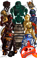 Droids (Day 4-5-6) by Chalecus