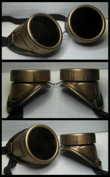 Simple Brass Goggles by CaelynTek
