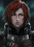 Commander Shepard by Jennifer-Manzanera