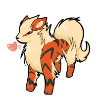 Arcanine wuff? by atlas-rabbit