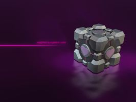 weighted companion cube by Lysa-Bell