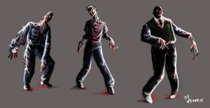 Male Zombie Concept by mansarali