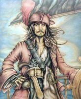 Captain Jack Sparrow by mjmjedi