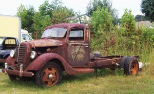 Rusty Truck by Highway by CrystalMarineGallery