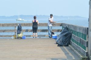 Fishing On the Pier by Miss-Tbones