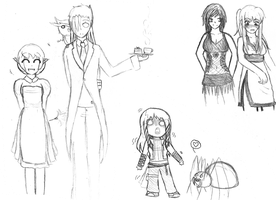 Devotia Sketches 2 by ifAnyoneCould