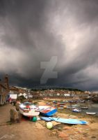 Storm over Mousehole by DL-Photography