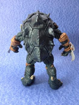 TMNT Slash custom action figure back view by connorobain