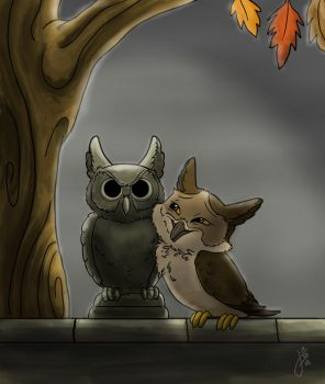 Owltober 7 Owllove by killintyme
