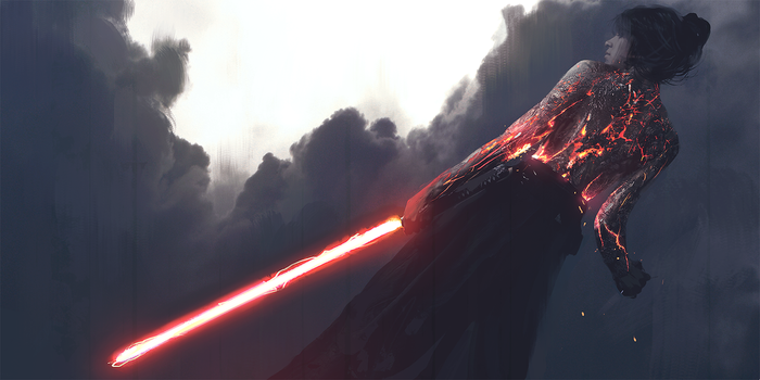 Quick Sketch - Lightsaber Execution by WojtekFus