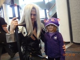 Sephiroth and his daughter by Jacky-the-Nerd