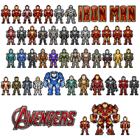 Pixel Hall of Armors by allaboutnothing