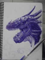 Blue dragon by Juliano-Pereira