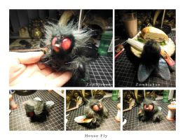 House Fly ooak art doll by ZombieHun