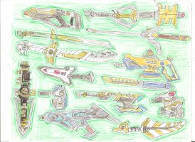 Sixth Ranger Weapons 1 by LavenderRanger