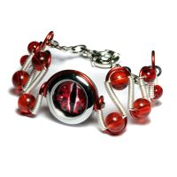 Cybersteam - Red Eye Dragon Eye Bracelet by CatherinetteRings