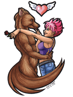 My Furry Valentine by CrystallineColey