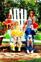 Seira, Coco, Sara, and Noel by Twin-EdgeCosplay