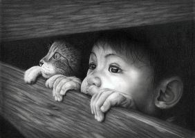 Boy And His Cat by Bengtern