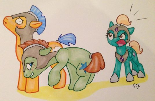 Guards in training by NocturneGlow