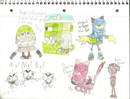 Mixels - More doodles of the characters :D by worldofcaitlyn