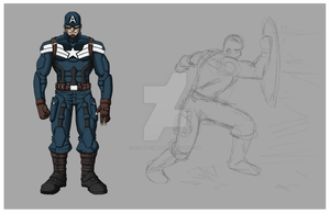 Capitan America Step 1 by RicardoCabrera