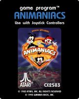 Animaniacs Atari 2600 Main Label by Dorothy64116