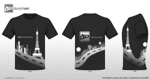 """dA is anywhere"" TShirt Design by furanshizuryuu"