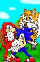 Sonic Team by blackdragongal