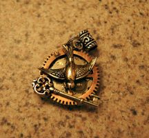 Steampunk Mockingjay inspired by The Hunger Games by LilyArt2006