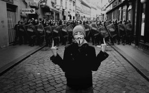 Anonymous fuck the world by guyfawkesmaskers