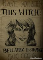Bellatrix - Wanted Poster by FarrahPhoenix